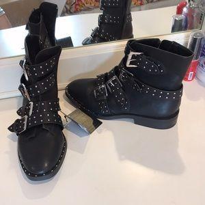 Forever 21 studded biker boots